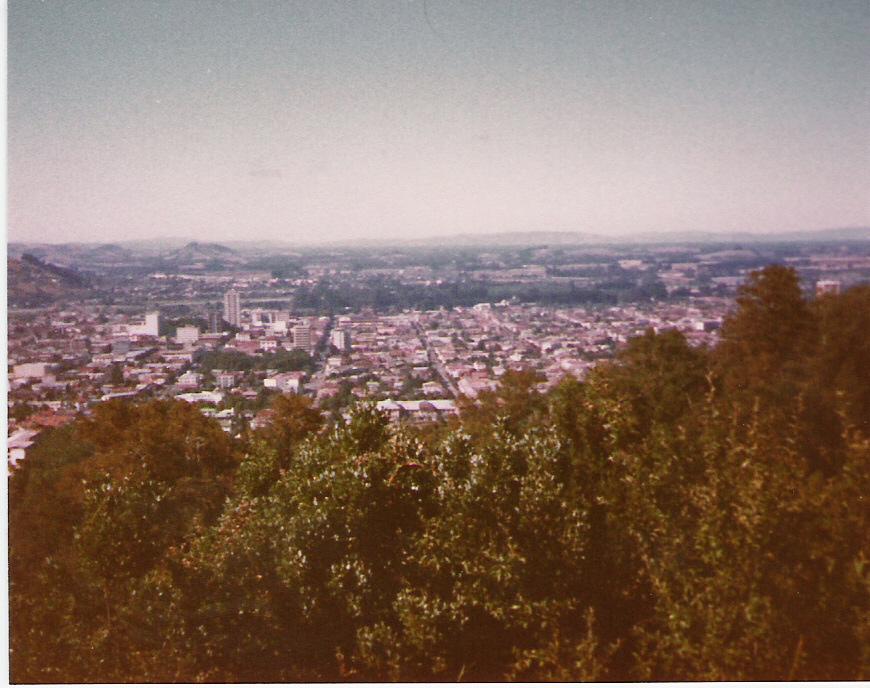Enterreno - Fotos históricas de chile - fotos antiguas de Chile - Temuco desde Cerro Ñielol en 1982