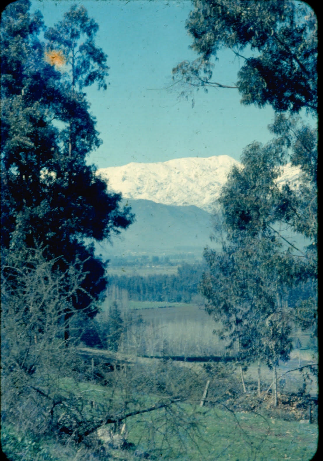 Enterreno - Fotos históricas de chile - fotos antiguas de Chile - Sector Lo Curro de Santiago en 1959