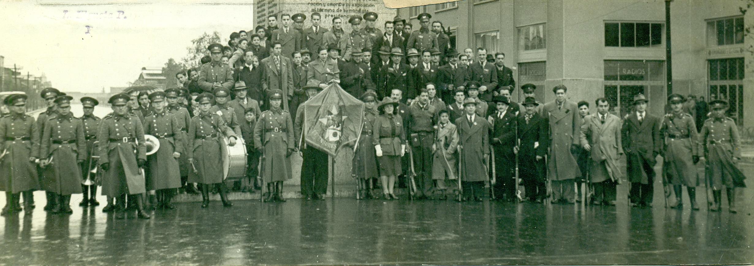 Enterreno - Fotos históricas de chile - fotos antiguas de Chile - Club de Tiro Defensores de Chile en 1940