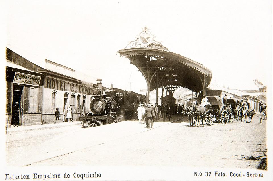 Enterreno - Fotos históricas de chile - fotos antiguas de Chile - Estación empalme de Coquimbo, circa. 1910