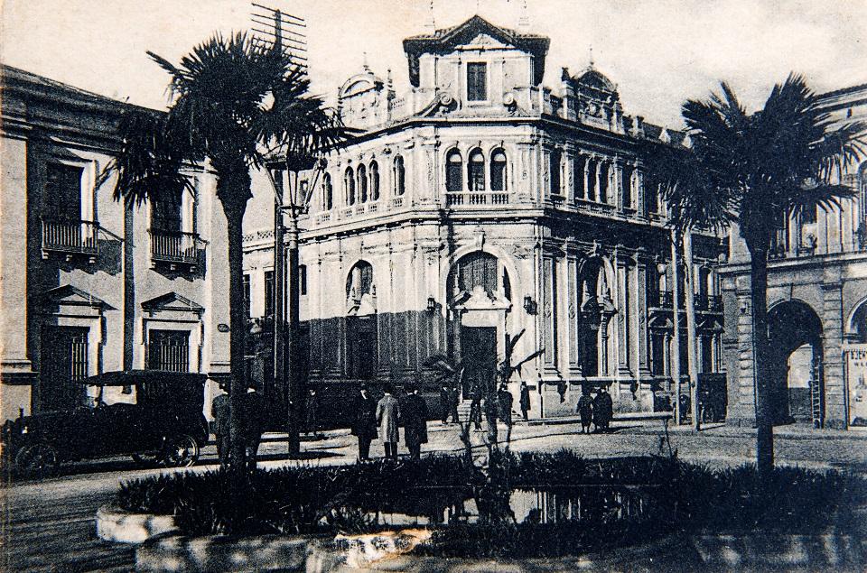 Enterreno - Fotos históricas de chile - fotos antiguas de Chile - Caja Nacional de Ahorros, Concepción en 1920