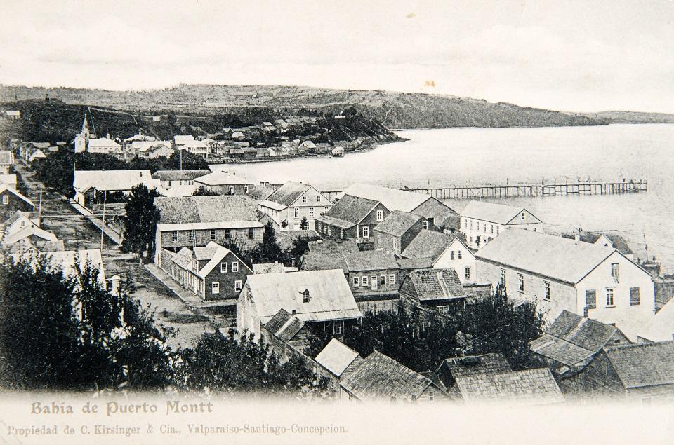 Enterreno - Fotos históricas de chile - fotos antiguas de Chile - Bahía de Puerto Montt ca. 1900
