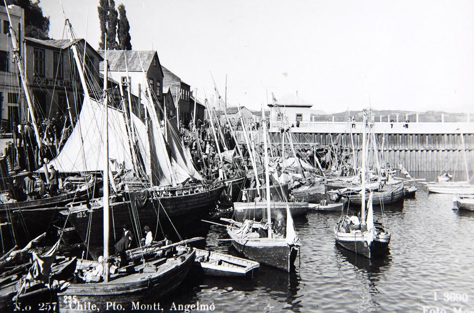Enterreno - Fotos históricas de chile - fotos antiguas de Chile - Chile, Pto. Montt, Angelmó ca. 1940
