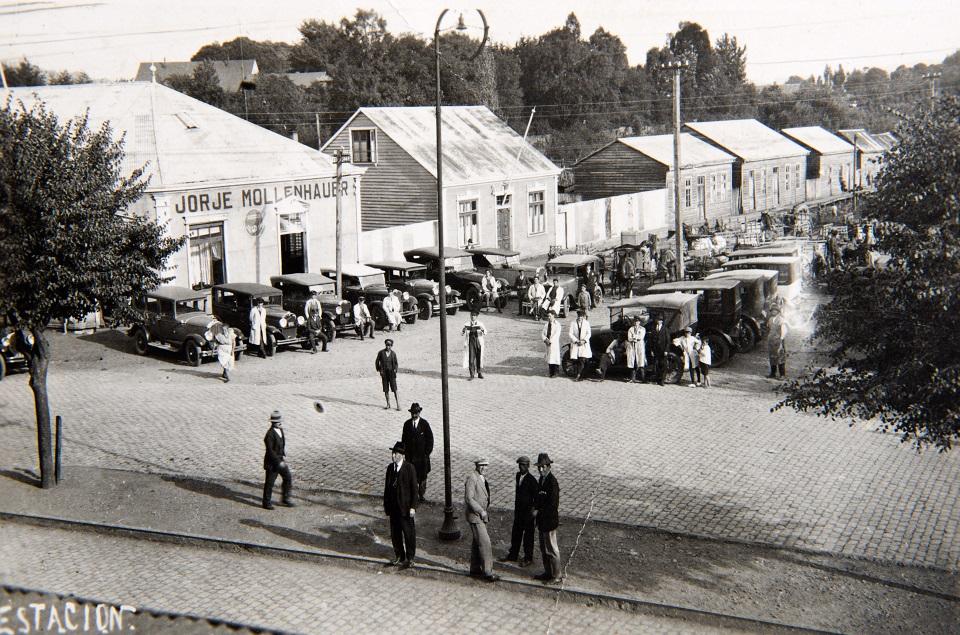 Enterreno - Fotos históricas de chile - fotos antiguas de Chile - Estación de Valdivia en 1930