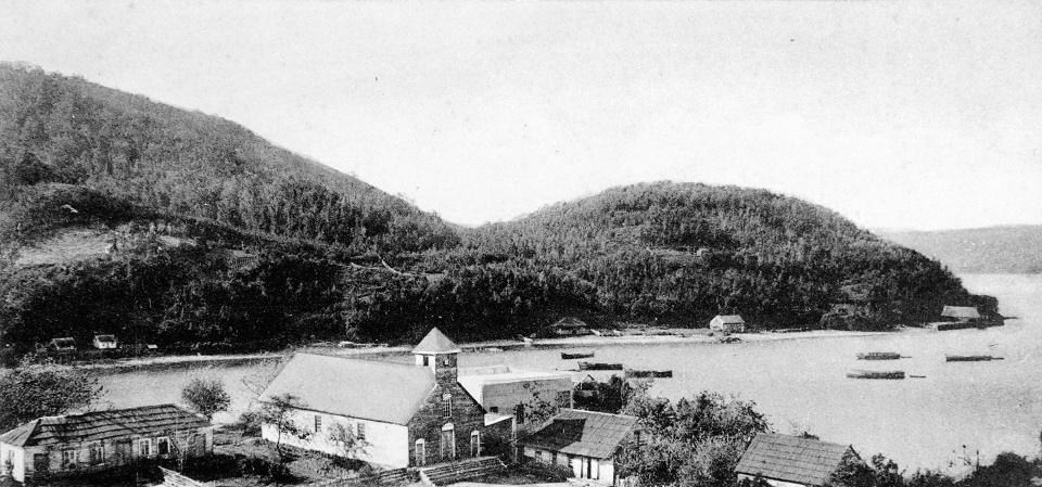 Enterreno - Fotos históricas de chile - fotos antiguas de Chile - Corral ca. 1925