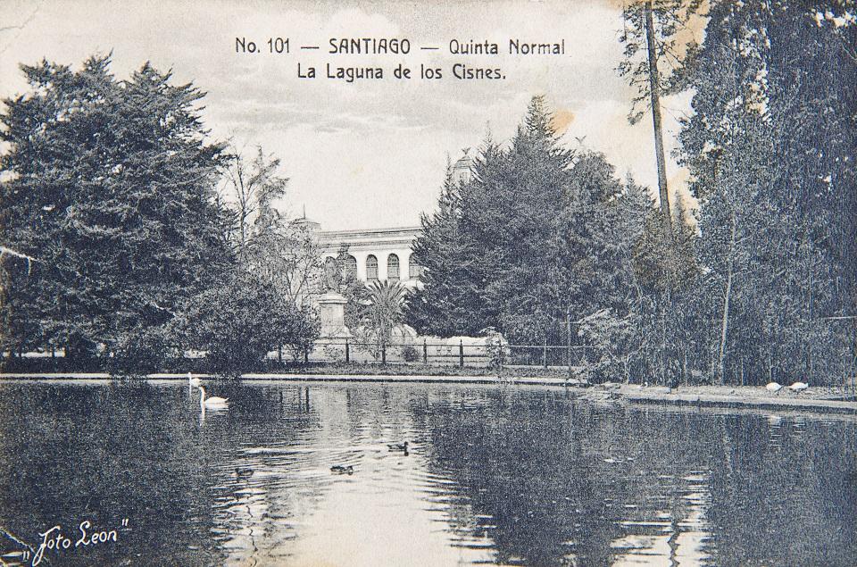 Enterreno - Fotos históricas de chile - fotos antiguas de Chile - Laguna de la Quinta Normal en 1913
