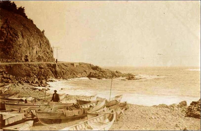 Enterreno - Fotos históricas de chile - fotos antiguas de Chile - Caleta El Membrillo en 1905
