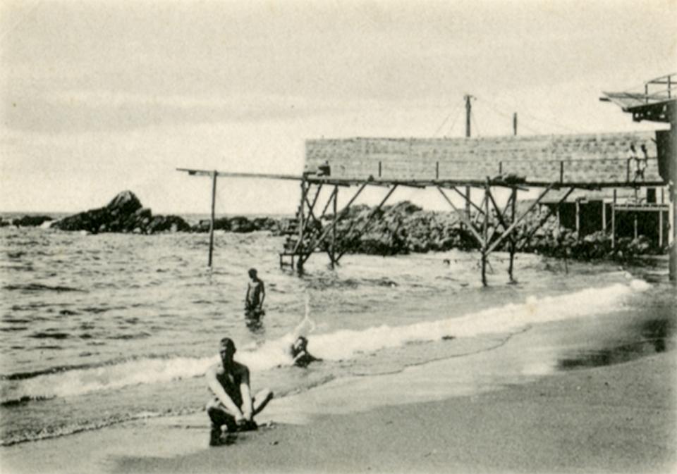 Enterreno - Fotos históricas de chile - fotos antiguas de Chile - Bahía de las Torpederas, Valparaíso, 1910