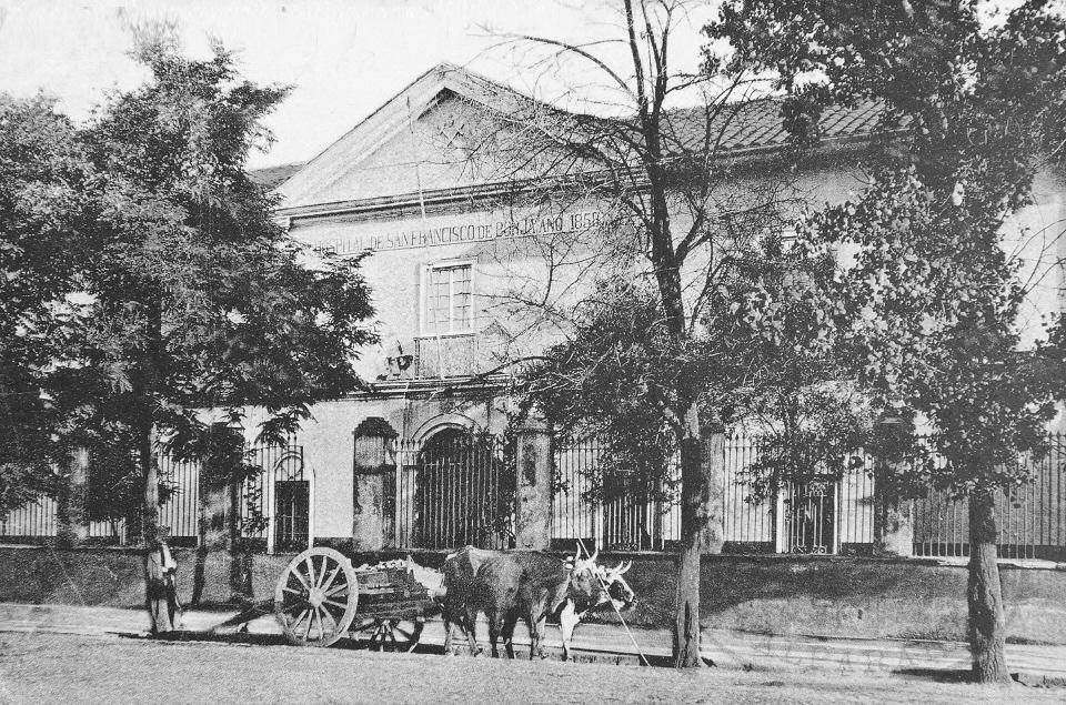 Enterreno - Fotos históricas de chile - fotos antiguas de Chile - Hospital San Francisco de Borja, Santiago ca. 1915