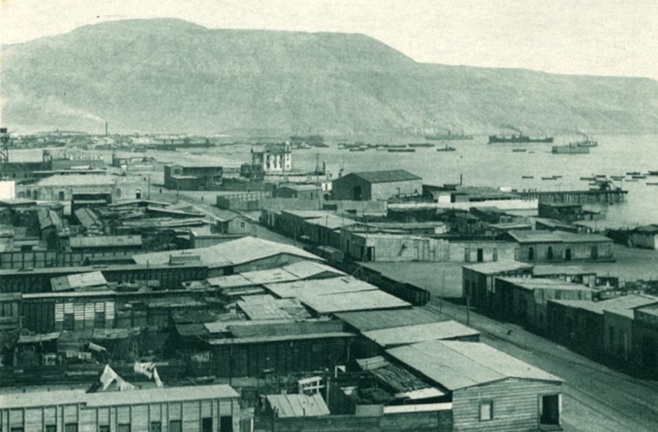 Enterreno - Fotos históricas de chile - fotos antiguas de Chile - Bahía de Mejillones, 1928