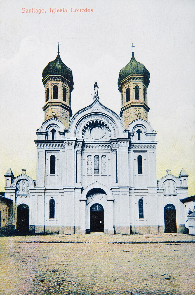Enterreno - Fotos históricas de chile - fotos antiguas de Chile - Iglesia de Lourdes, Santiago, ca. 1900