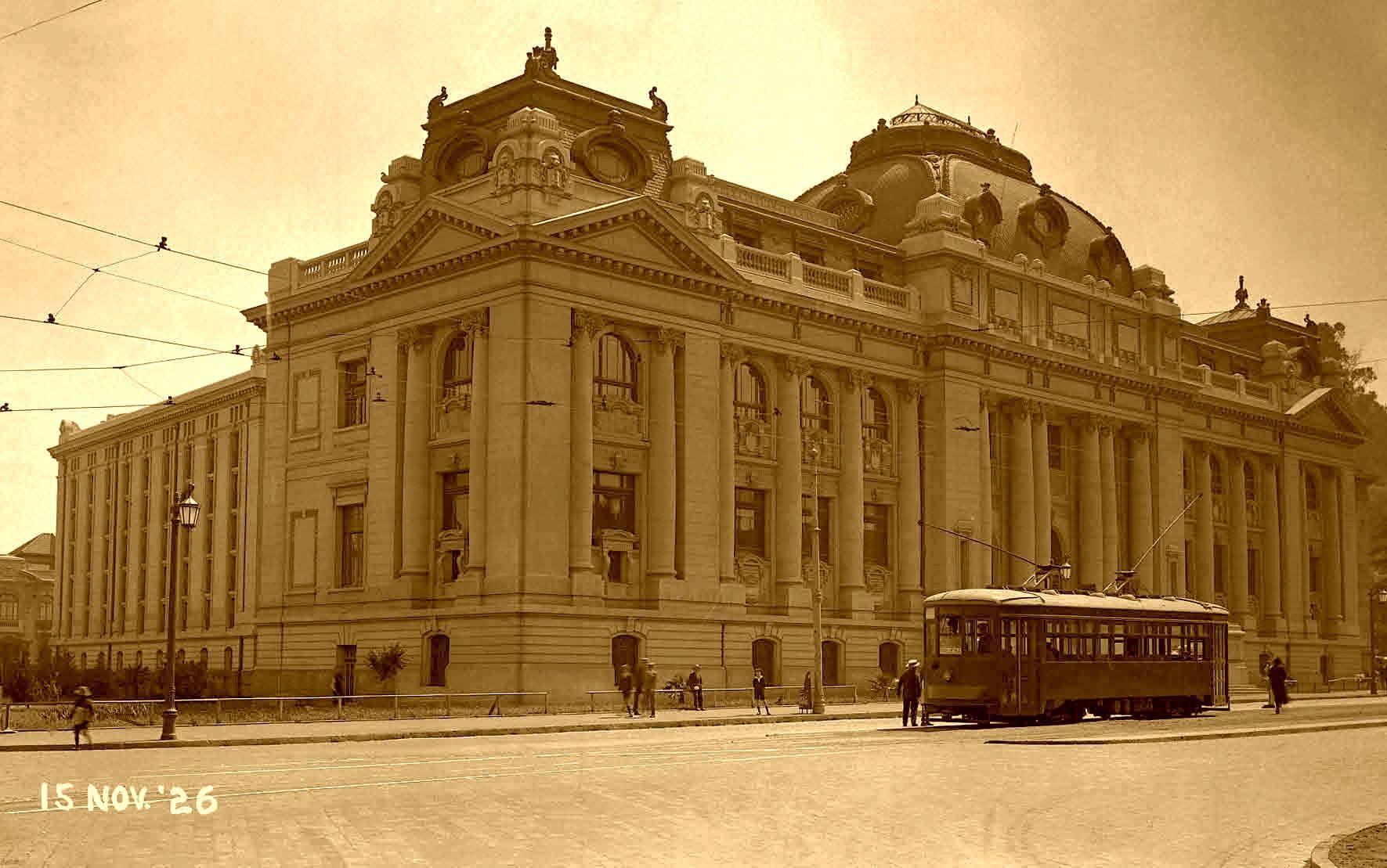 Enterreno - Fotos históricas de chile - fotos antiguas de Chile - Biblioteca Nacional en 1926