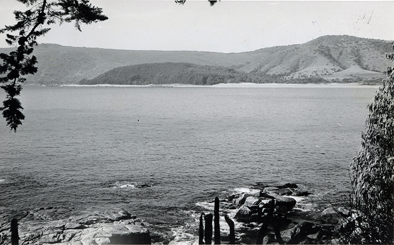 Enterreno - Fotos históricas de chile - fotos antiguas de Chile - Bahía de Papudo en 1960