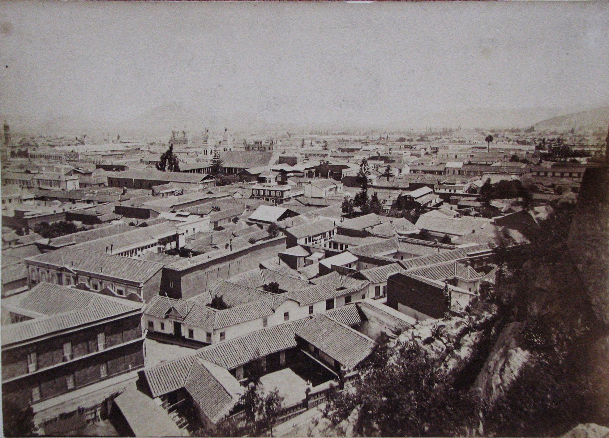 Enterreno - Fotos históricas de chile - fotos antiguas de Chile - Centro de Santiago en 1890