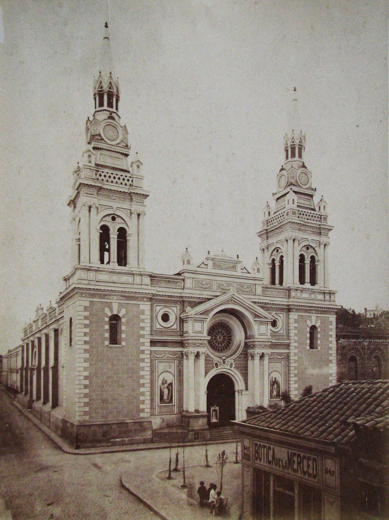 Enterreno - Fotos históricas de chile - fotos antiguas de Chile - Iglesia de La Merced en 1880