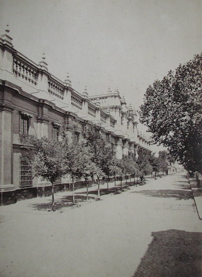 Enterreno - Fotos históricas de chile - fotos antiguas de Chile - Palacio de La Moneda en 1890
