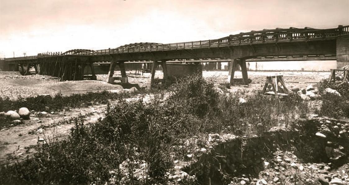 Enterreno - Fotos históricas de chile - fotos antiguas de Chile - Puente Tinguiririca en 1915