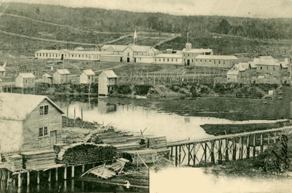 Enterreno - Fotos históricas de chile - fotos antiguas de Chile - Isla Dawson, Estrecho de Magallanes, 1925
