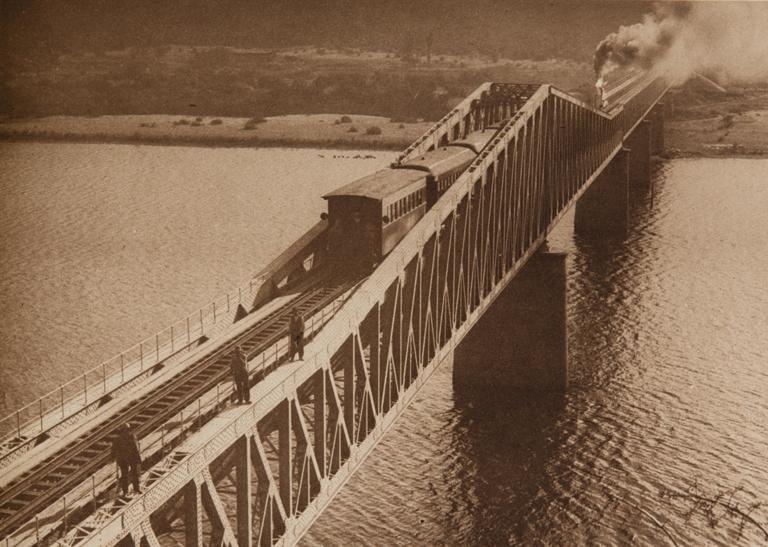 Enterreno - Fotos históricas de chile - fotos antiguas de Chile - Puente Banco de Arena, Constitución en 1925