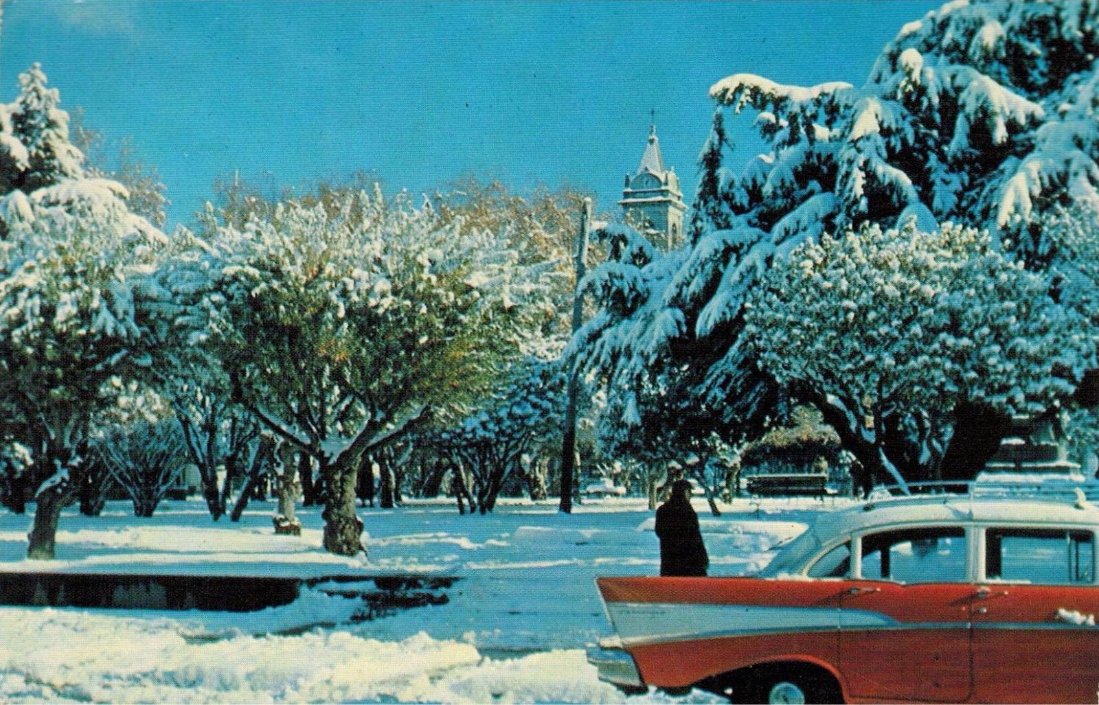 Enterreno - Fotos históricas de chile - fotos antiguas de Chile - Invierno en Punta Arenas, 1960