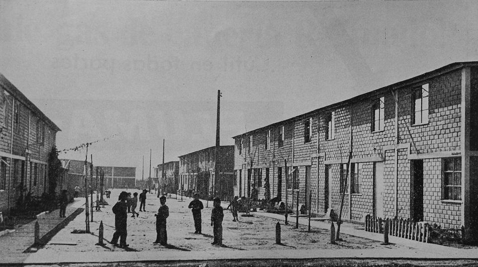 Enterreno - Fotos históricas de chile - fotos antiguas de Chile - Viviendas en Lo Valledor en 1965