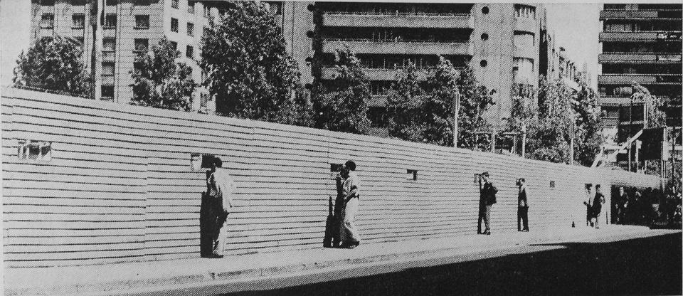 Enterreno - Fotos históricas de chile - fotos antiguas de Chile - Construcción Metro de Santiago en 1964