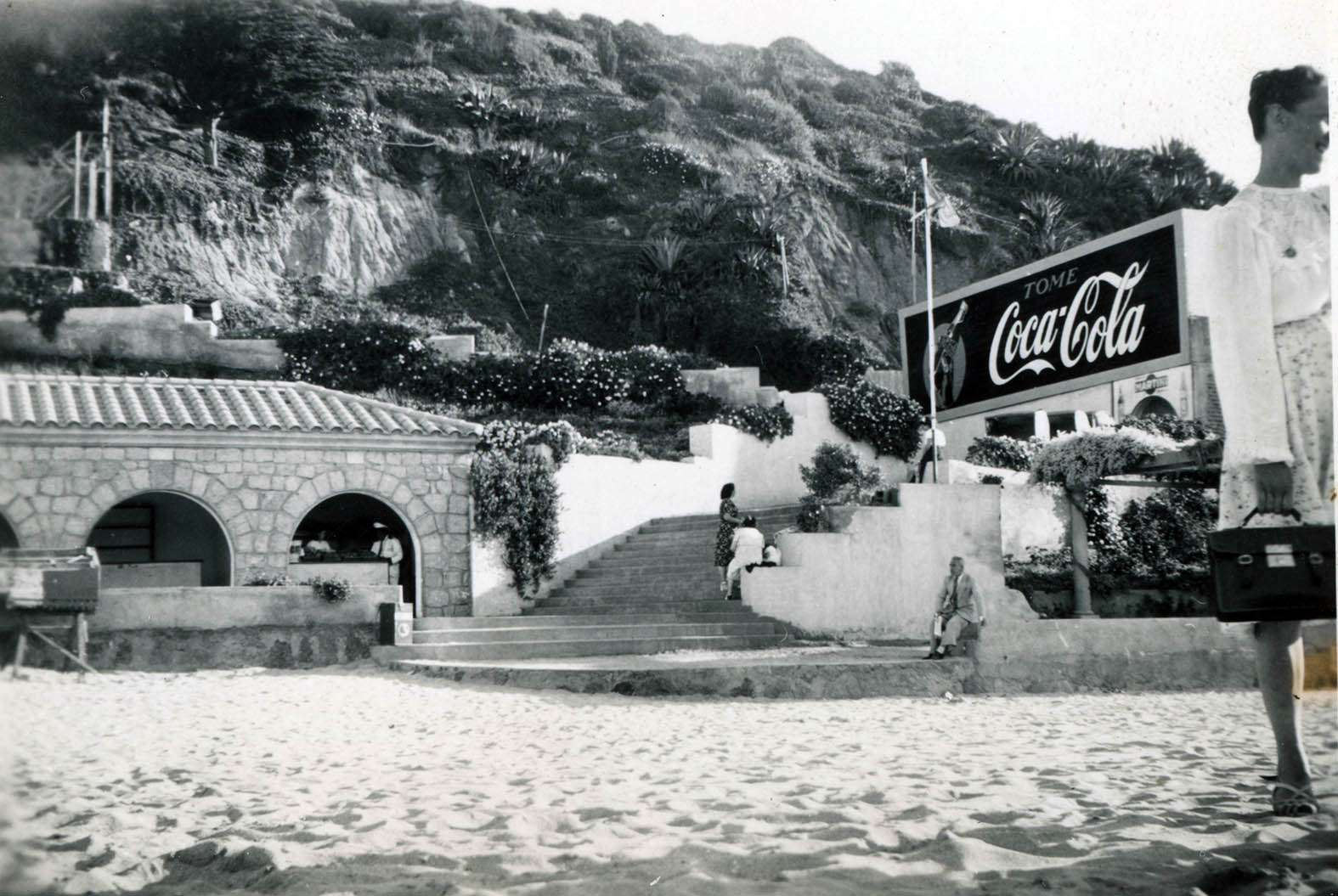 Enterreno - Fotos históricas de chile - fotos antiguas de Chile - Playa Las Salinas en 1948