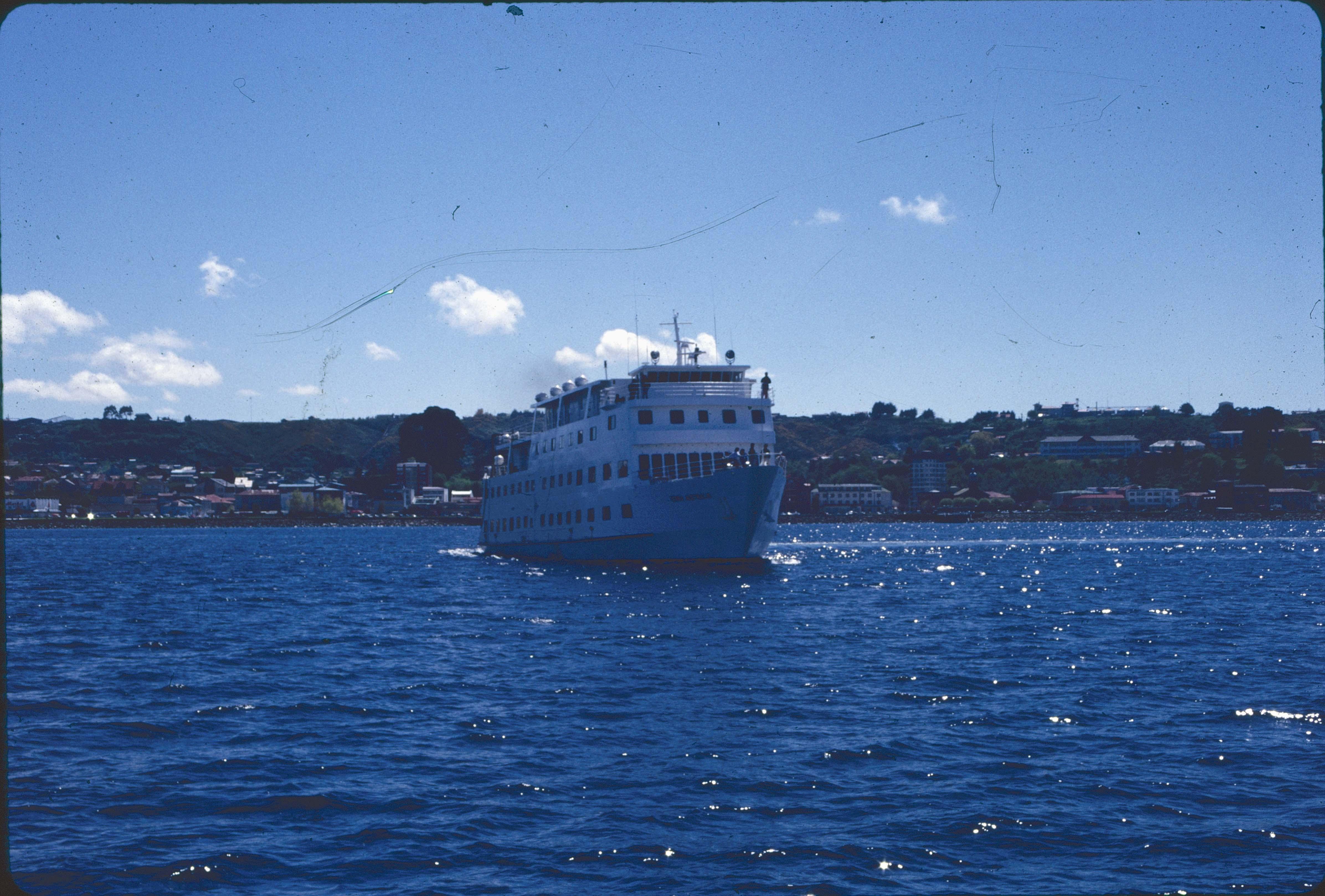 Enterreno - Fotos históricas de chile - fotos antiguas de Chile - Crucero en Punta Arenas en los 90s