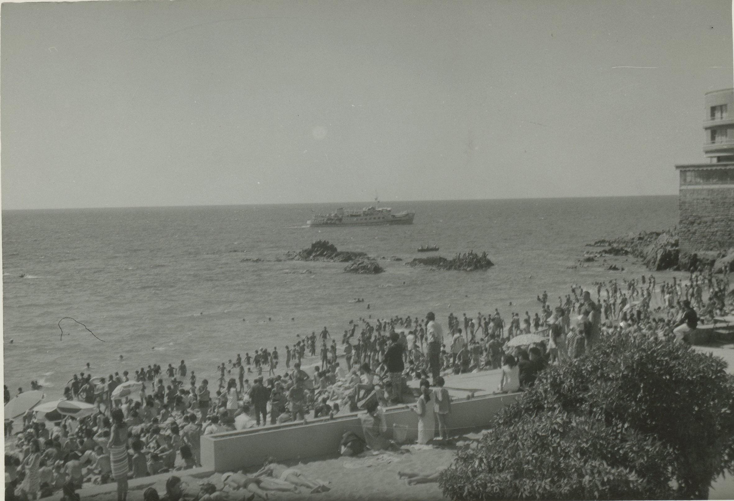 Enterreno - Fotos históricas de chile - fotos antiguas de Chile - Caleta Abarca de Viña del Mar en 1969