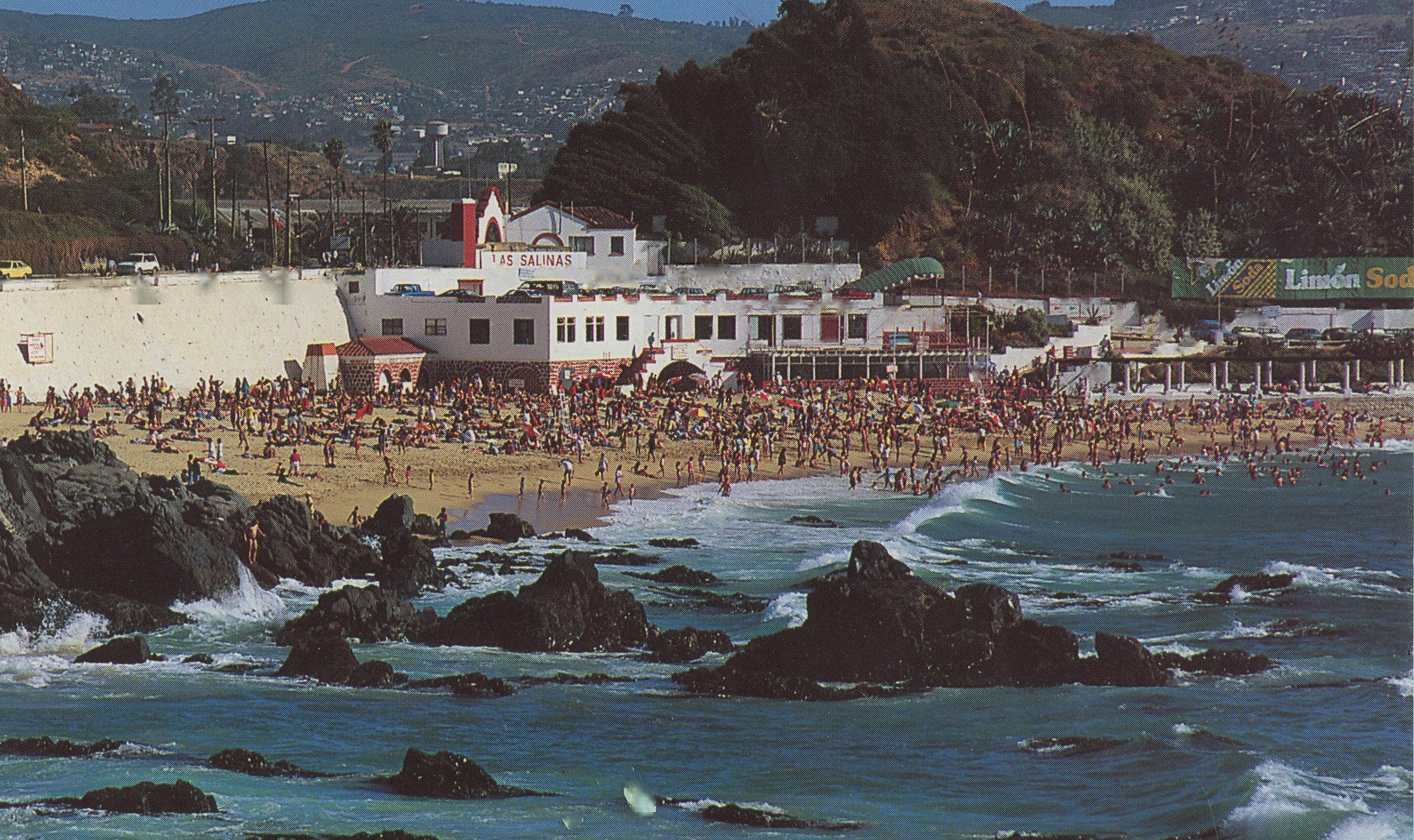 Enterreno - Fotos históricas de chile - fotos antiguas de Chile - Playa Las Salinas, Viña del Mar en los años 70