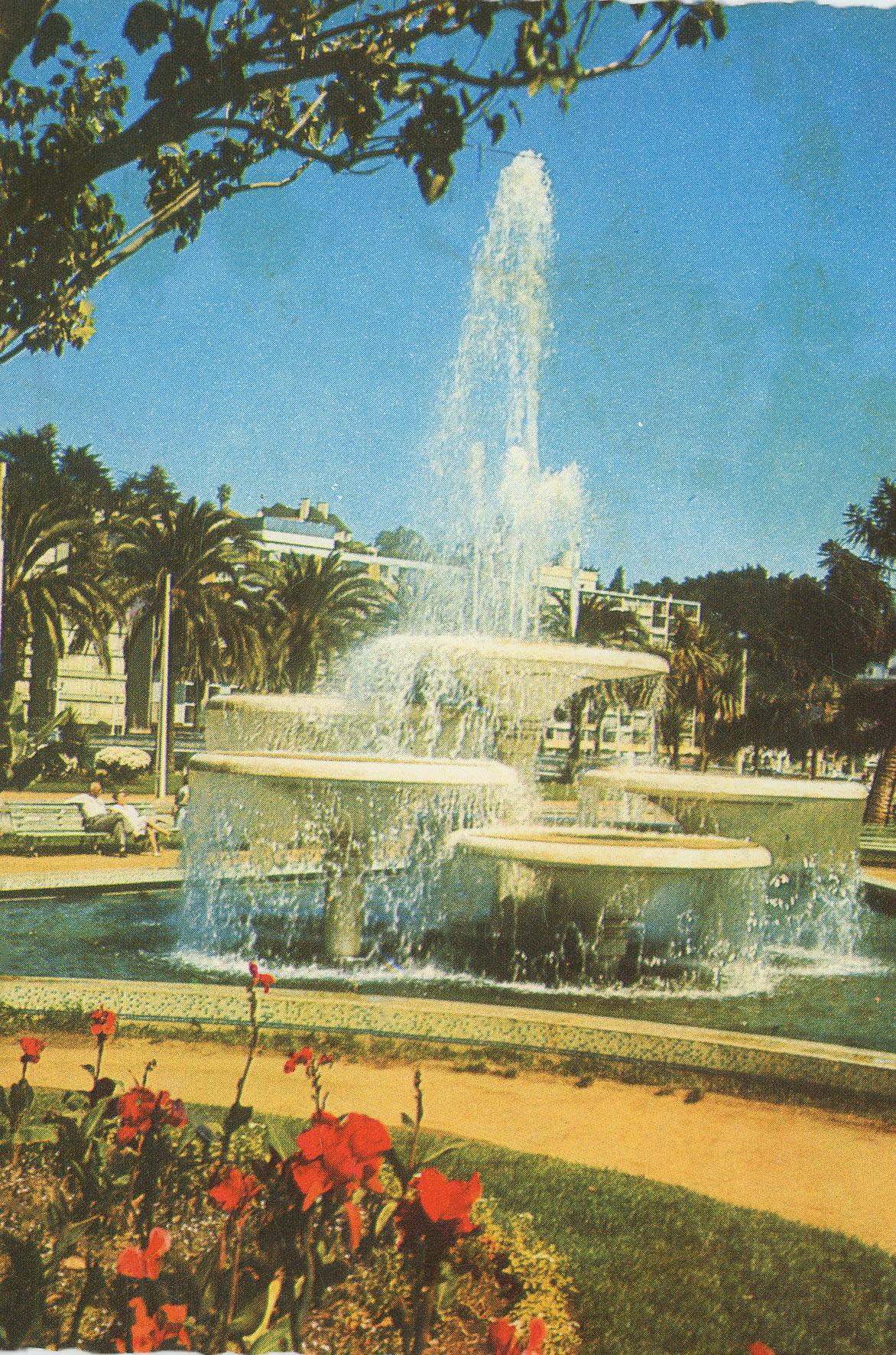 Enterreno - Fotos históricas de chile - fotos antiguas de Chile - Pileta en Plaza México, Viña del Mar en 1960