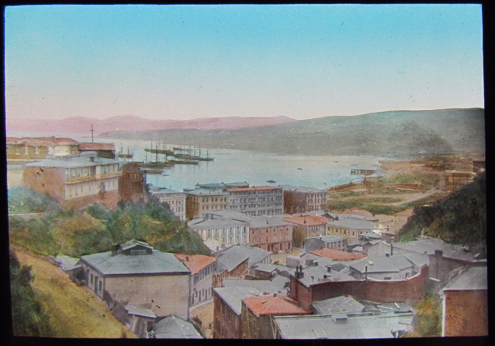 Enterreno - Fotos históricas de chile - fotos antiguas de Chile - Plaza Aníbal Pinto de Valparaíso hacia 1890