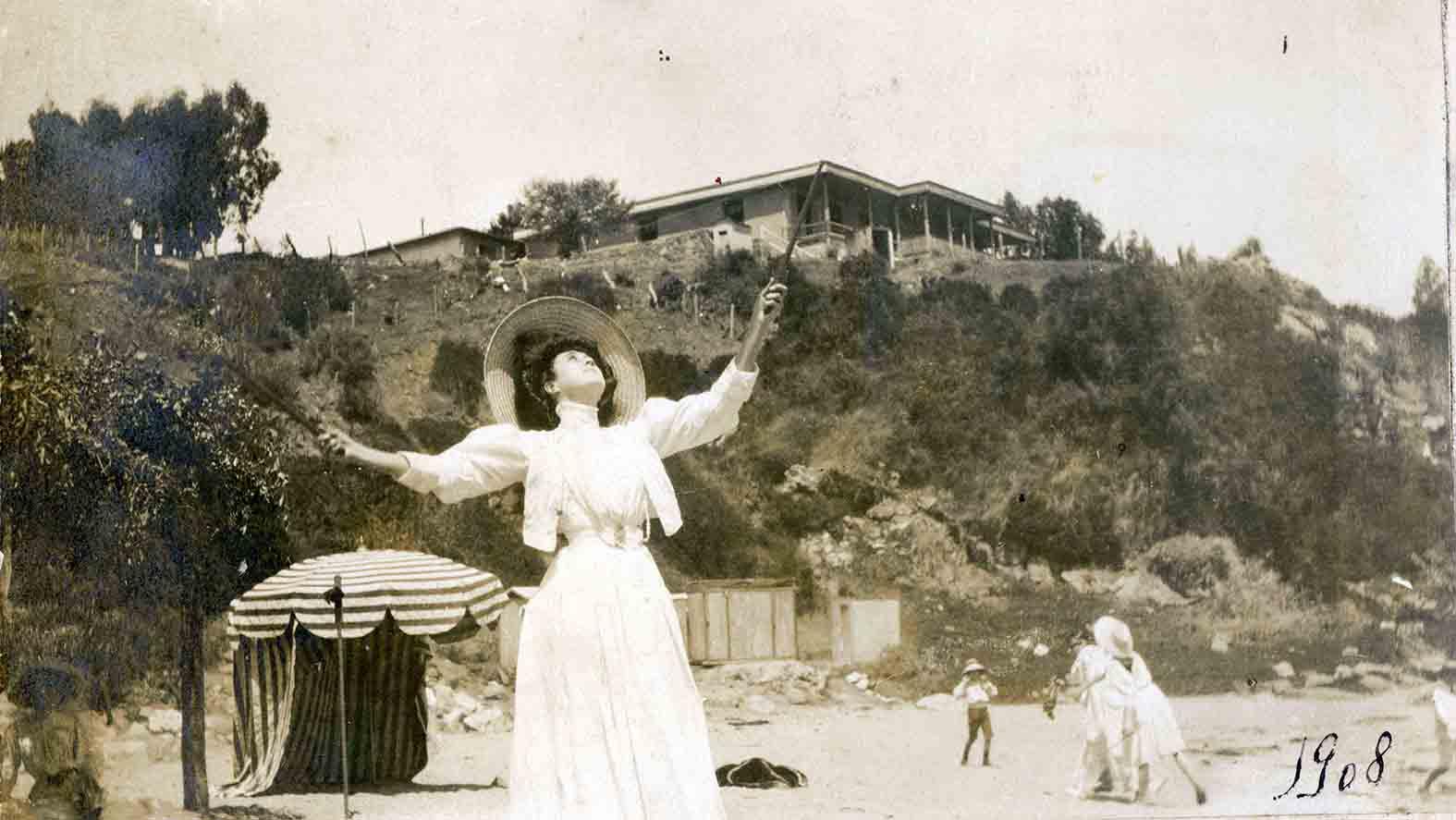Enterreno - Fotos históricas de chile - fotos antiguas de Chile - Zapallar en 1908