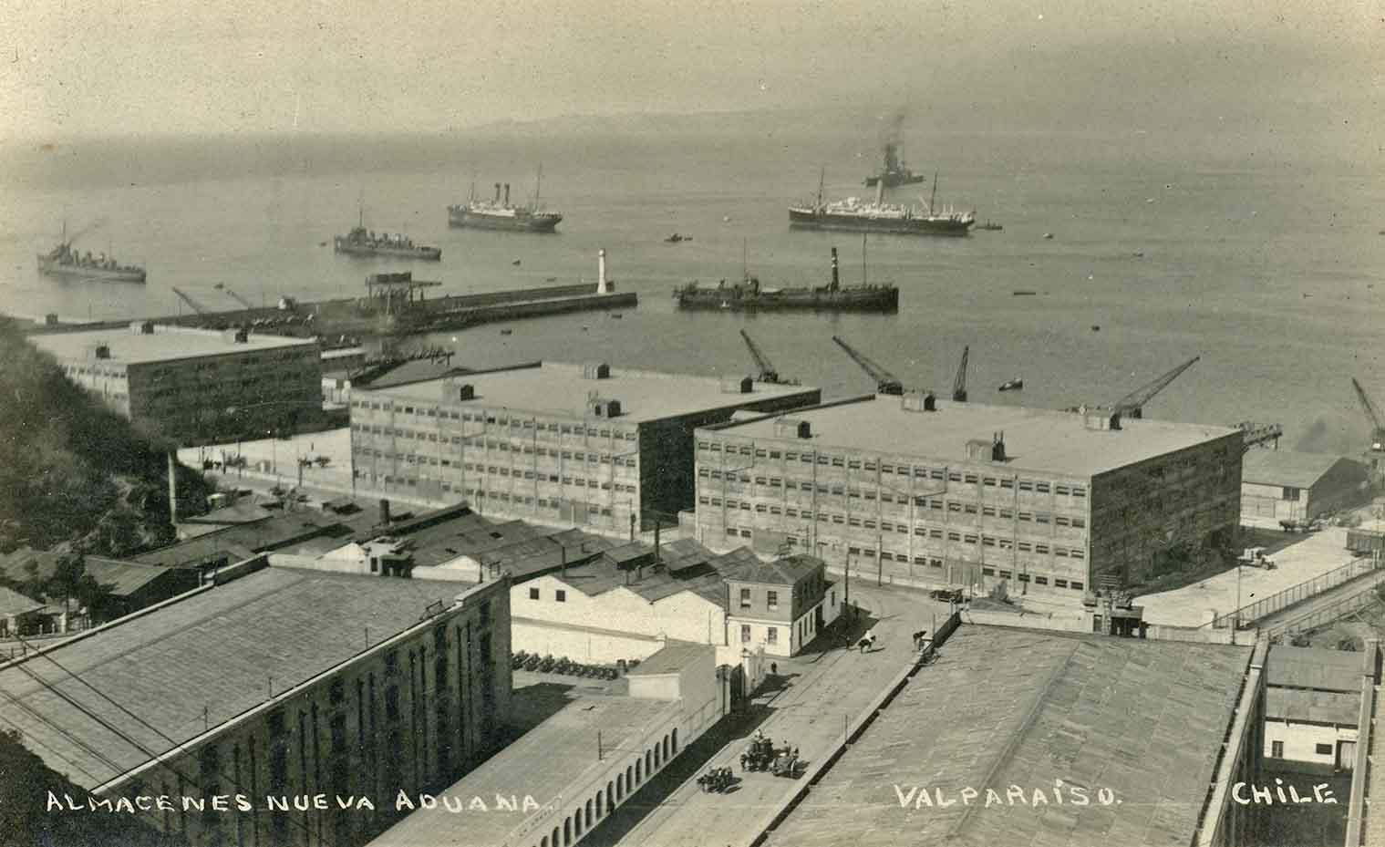 Enterreno - Fotos históricas de chile - fotos antiguas de Chile - Almacenes de Valparaíso en 1924