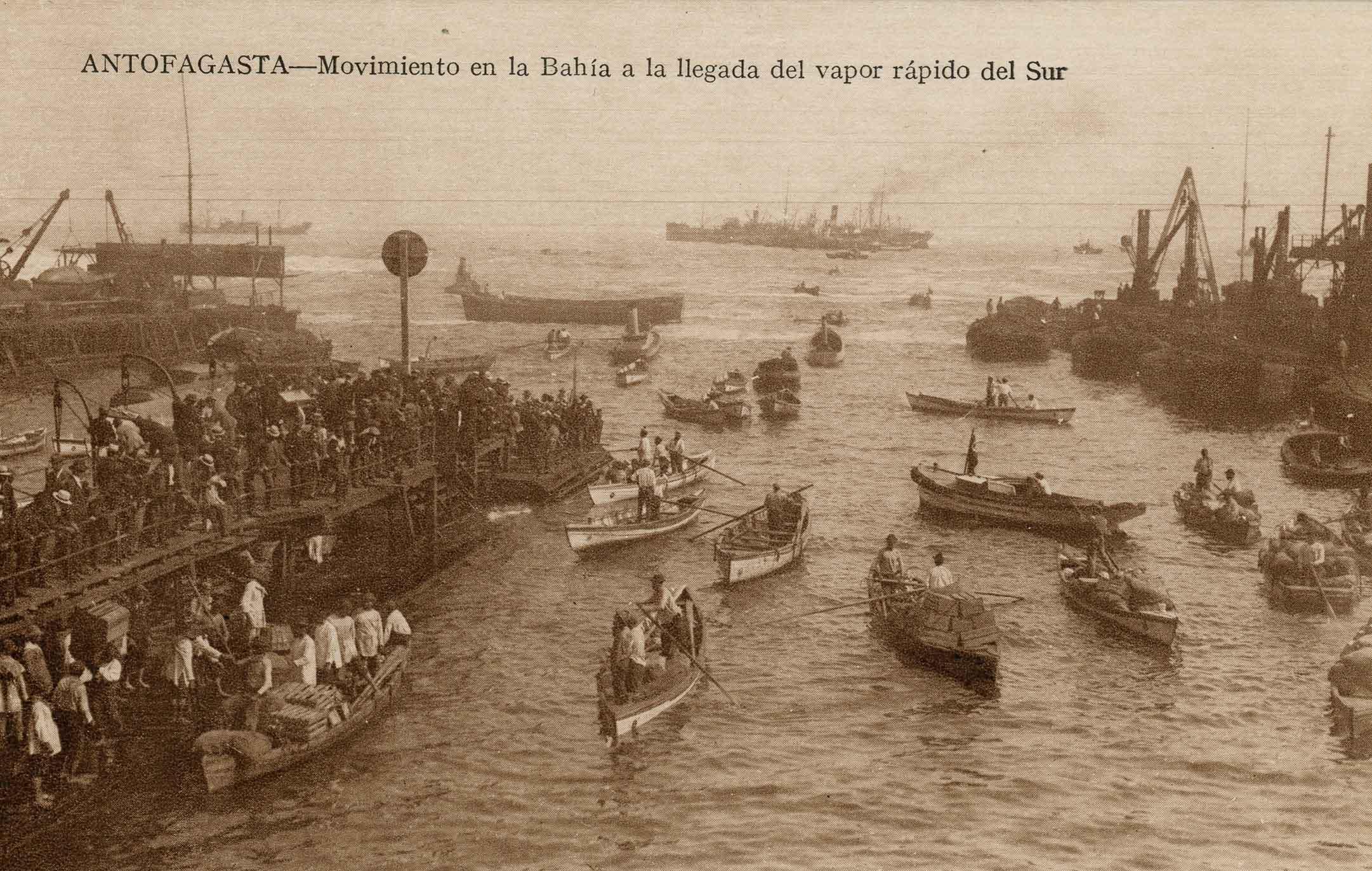 Enterreno - Fotos históricas de chile - fotos antiguas de Chile - Puerto de ntofagasta ca. 1910