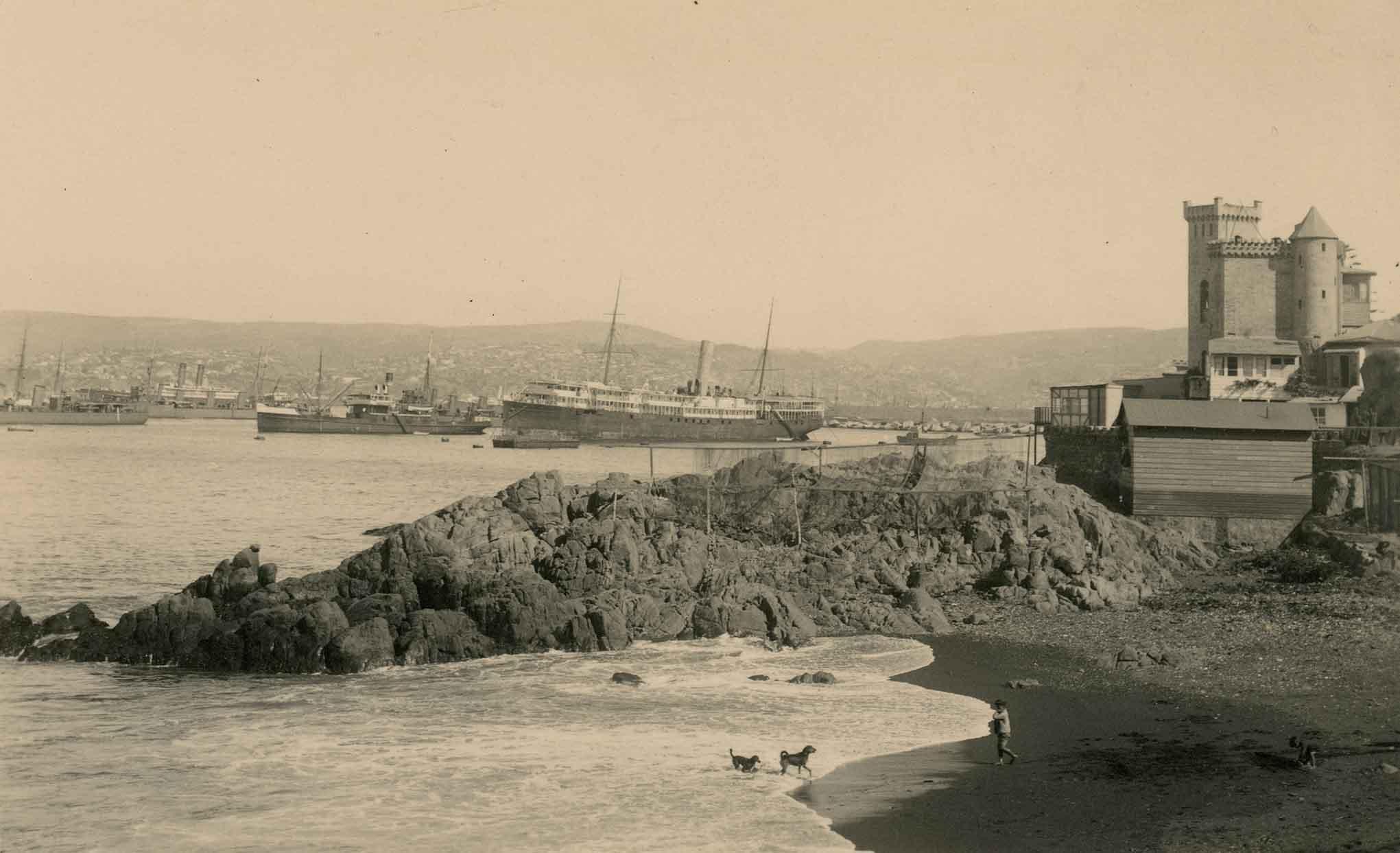 Enterreno - Fotos históricas de chile - fotos antiguas de Chile - Caleta el Membrillo en 1923