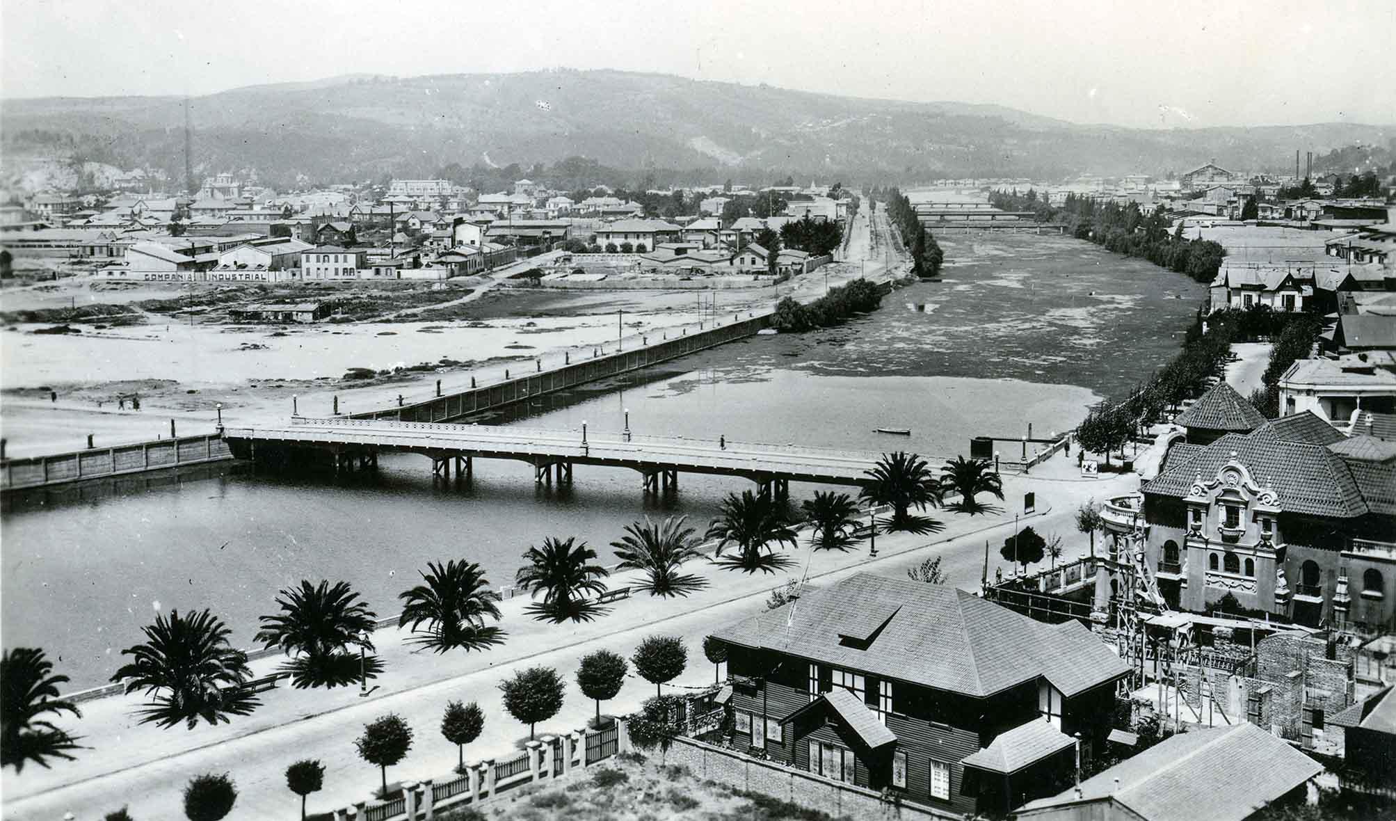 Enterreno - Fotos históricas de chile - fotos antiguas de Chile - Estero Marga Marga ca. 1920