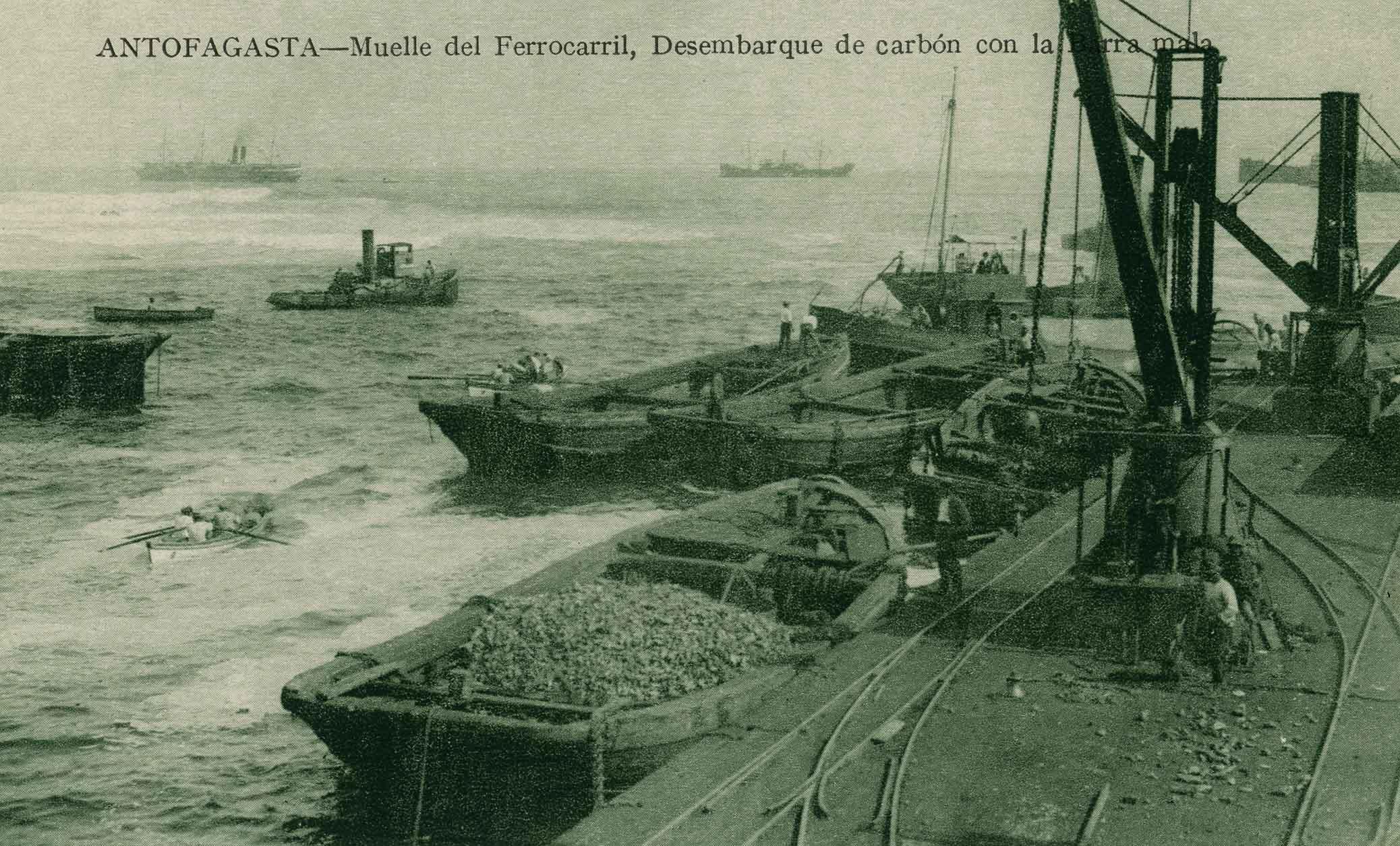Enterreno - Fotos históricas de chile - fotos antiguas de Chile - Muelle de Antofagasta ca. 1910