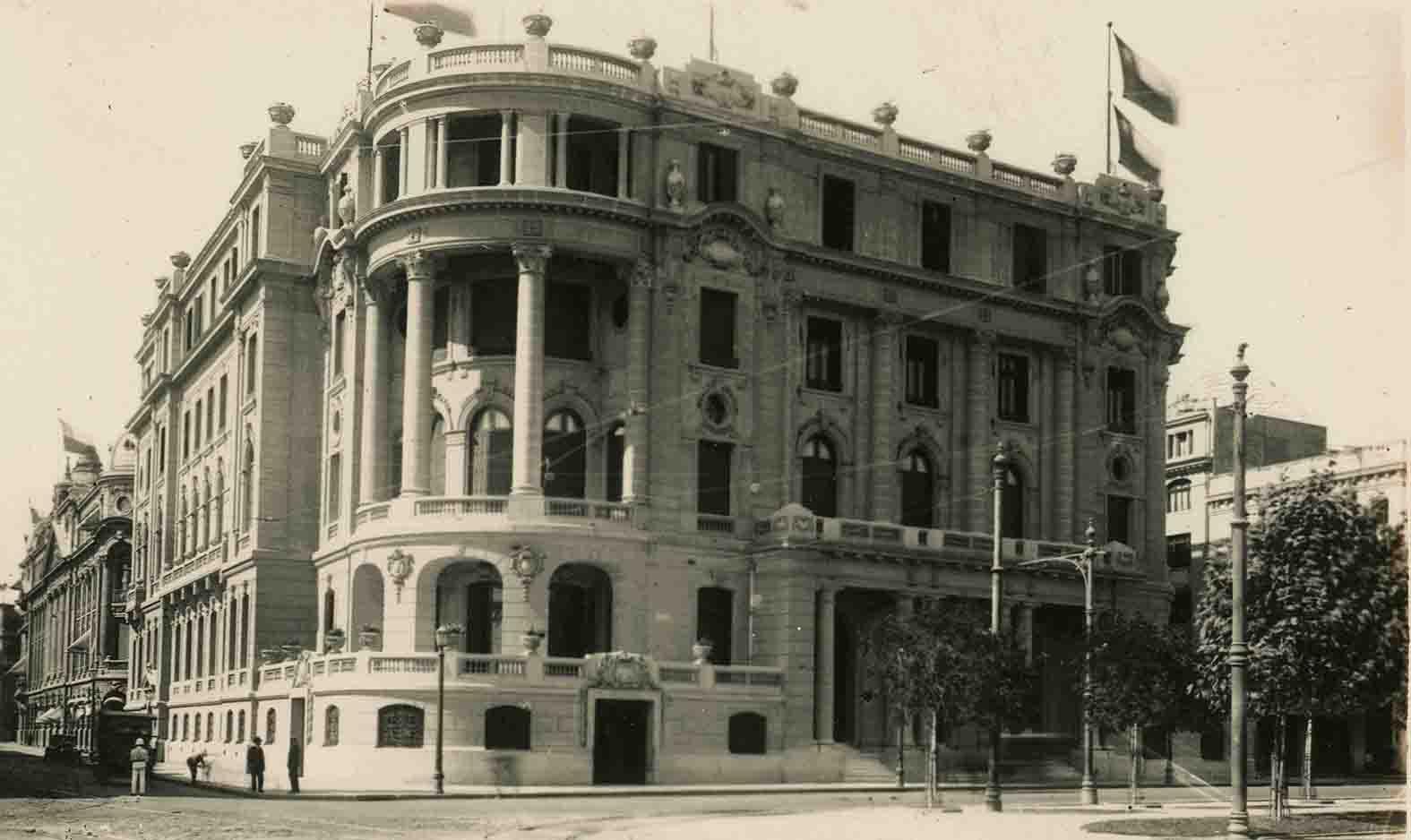 Enterreno - Fotos históricas de chile - fotos antiguas de Chile - Club de la Unión de Santiago ca. 1925