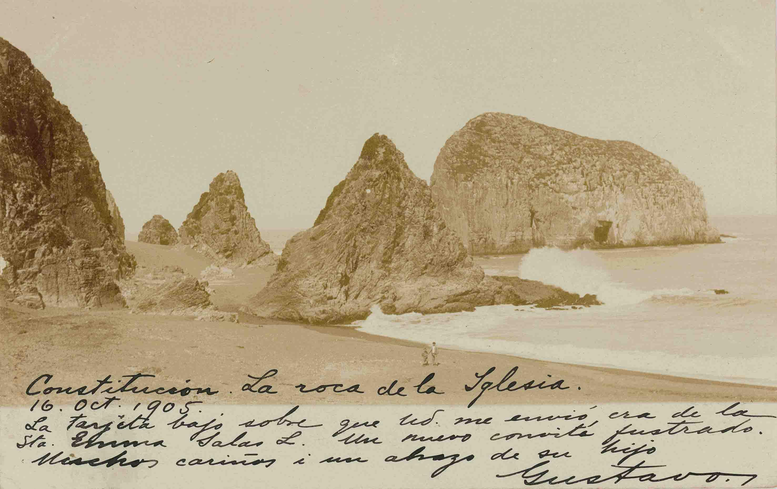 Enterreno - Fotos históricas de chile - fotos antiguas de Chile - Playa de Constitución 1905