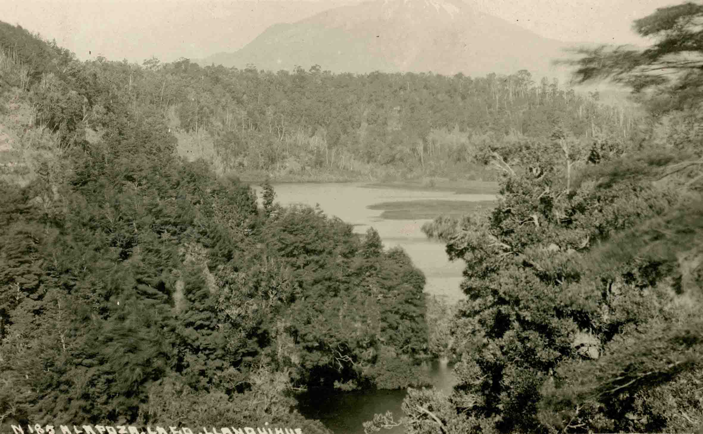 Enterreno - Fotos históricas de chile - fotos antiguas de Chile - La Poza, Lago Llanquihue ca. 1925