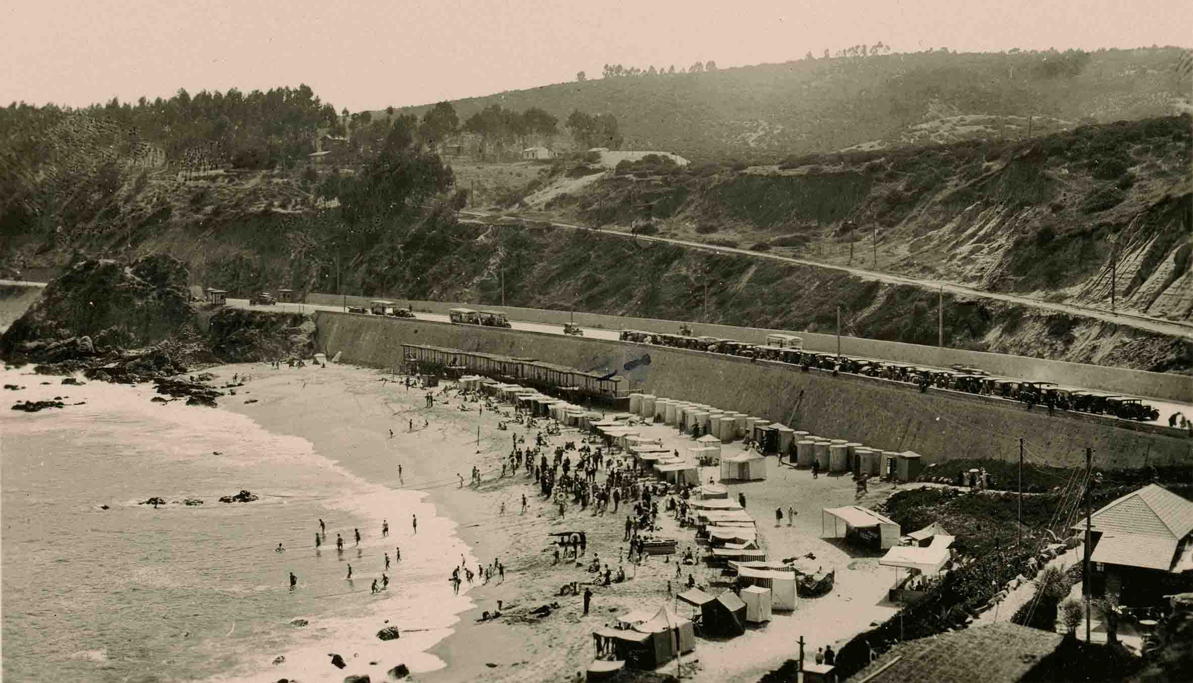 Enterreno - Fotos históricas de chile - fotos antiguas de Chile - Las Salinas de Viña del Mar ca. 1925