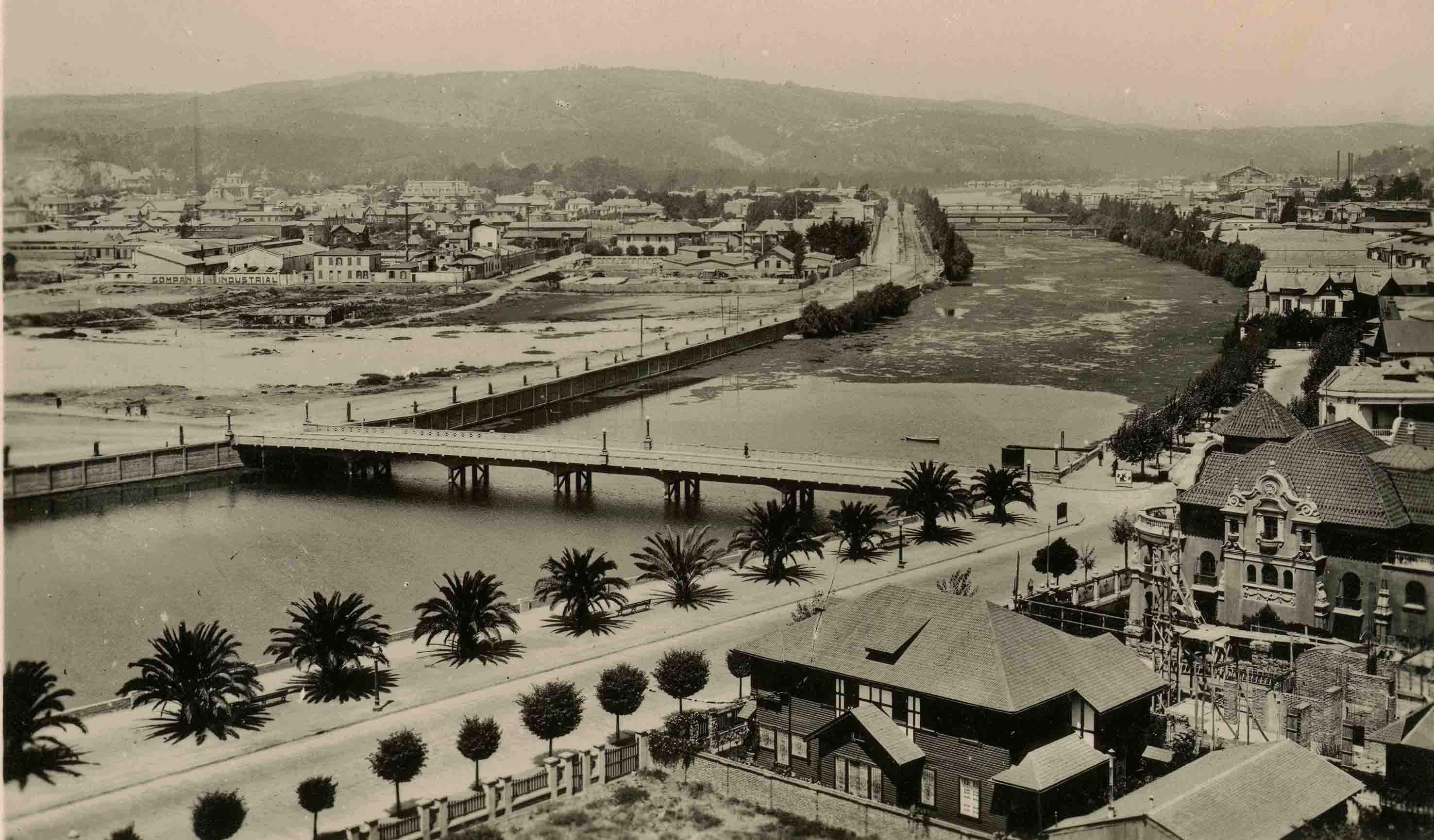 Enterreno - Fotos históricas de chile - fotos antiguas de Chile - Estero Marga Marga ca. 1925
