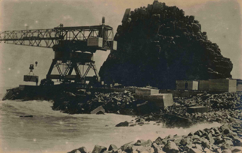 Enterreno - Fotos históricas de chile - fotos antiguas de Chile - Puerto de Constitución ca. 1930