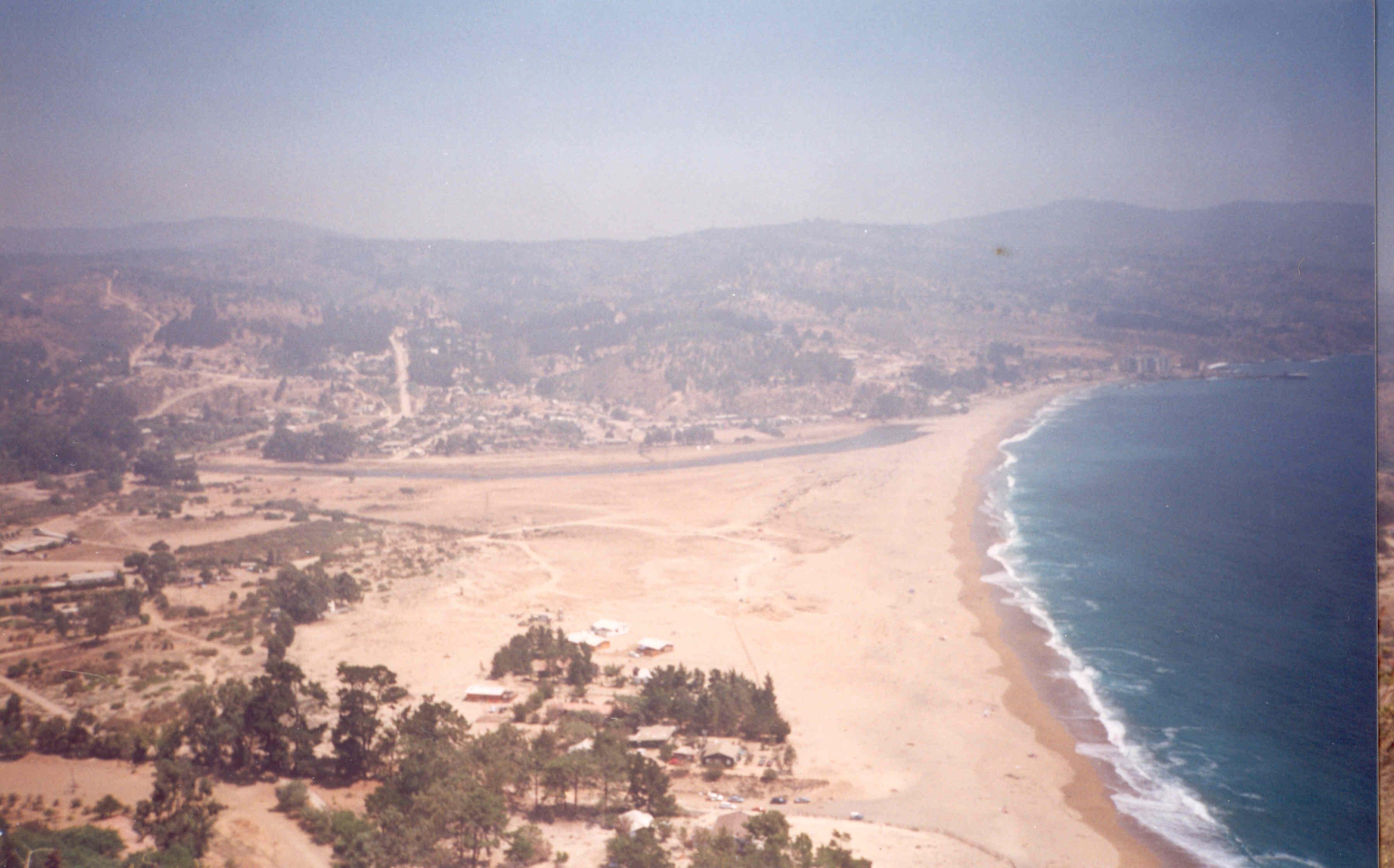 Enterreno - Fotos históricas de chile - fotos antiguas de Chile - Laguna Verde en 1986