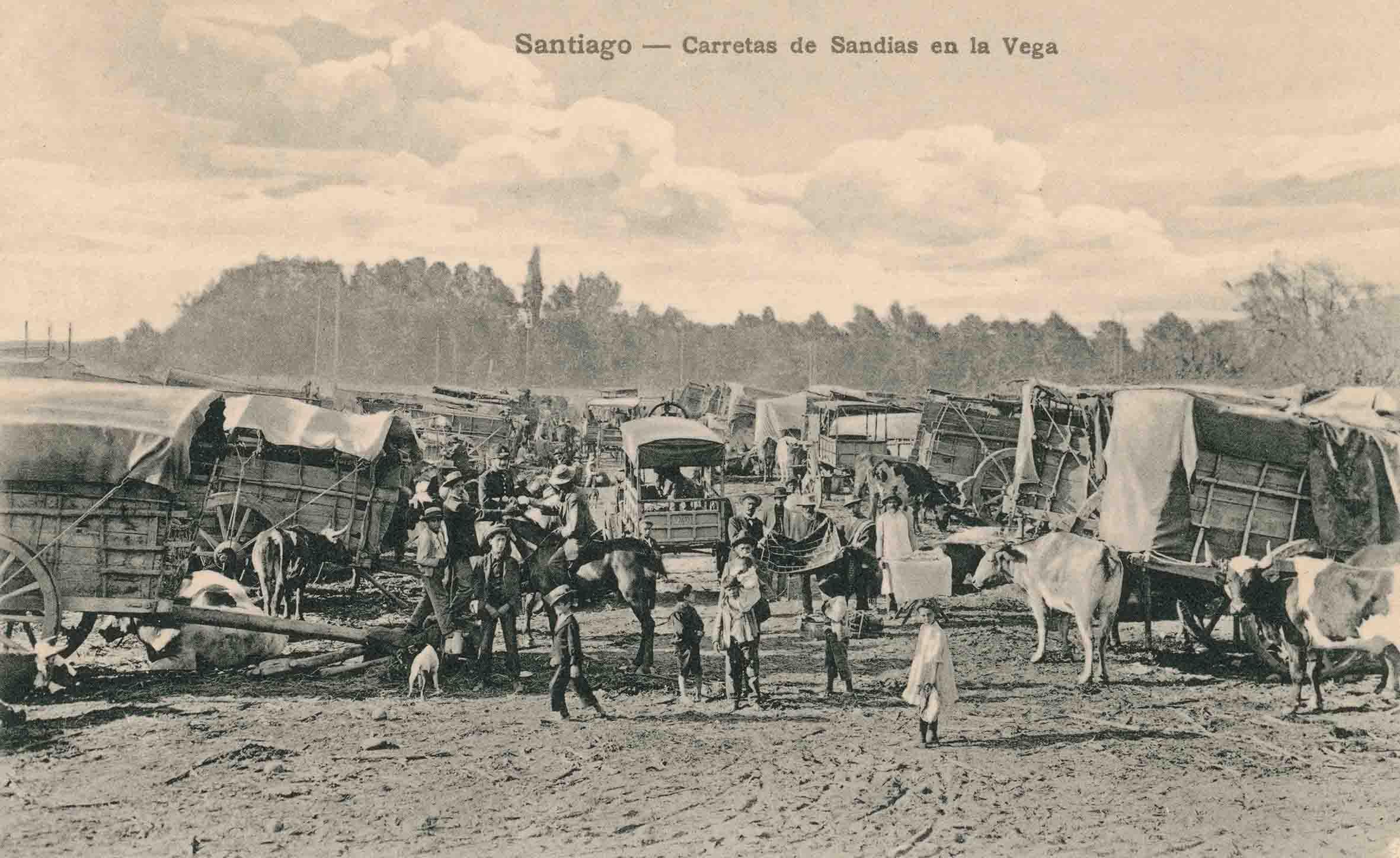Enterreno - Fotos históricas de chile - fotos antiguas de Chile - La Vega Central ca. 1880