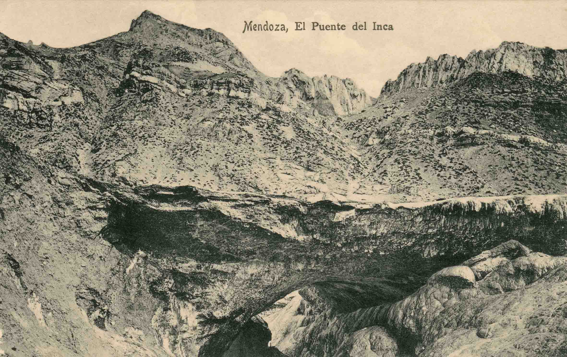 Enterreno - Fotos históricas de chile - fotos antiguas de Chile - Puente del Inca ca. 1915