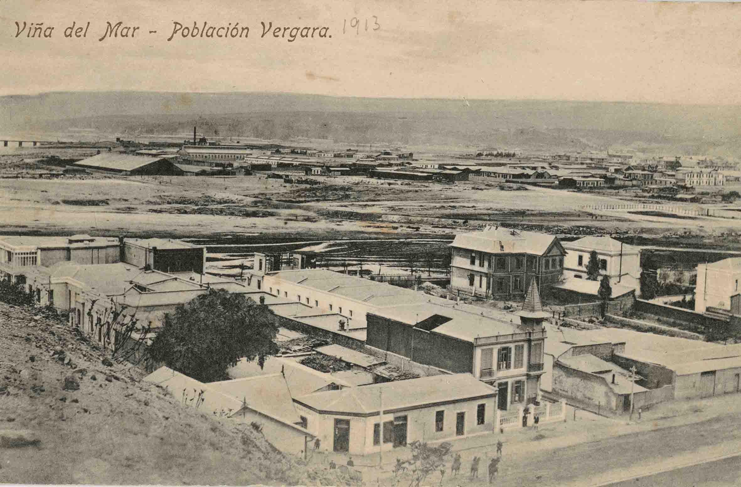 Enterreno - Fotos históricas de chile - fotos antiguas de Chile - Población Vergara de Viña del Mar en 1913