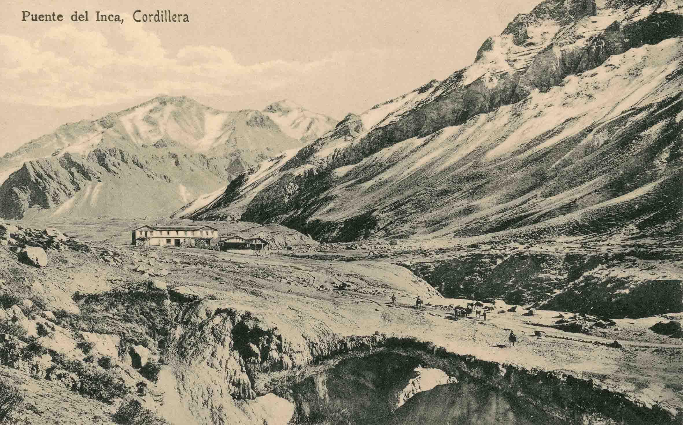 Enterreno - Fotos históricas de chile - fotos antiguas de Chile - Puente del inca ca. 1915