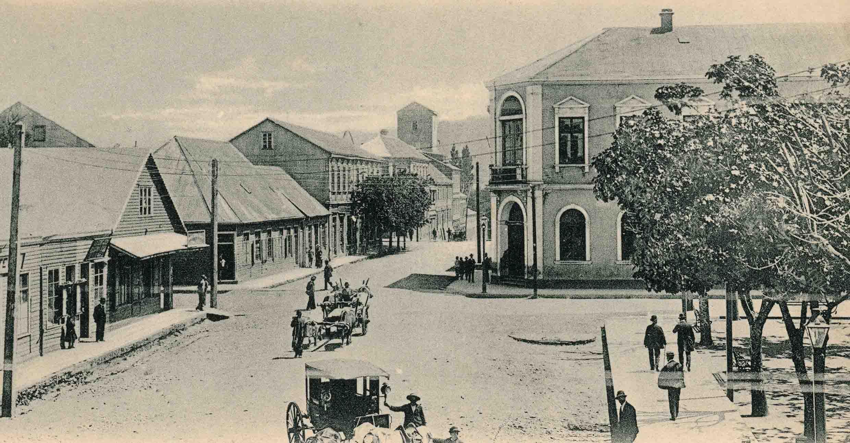 Enterreno - Fotos históricas de chile - fotos antiguas de Chile - Plaza de Valdivia en 1906